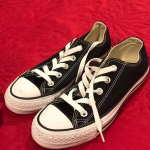 Converse all star sneakers black womens size 6